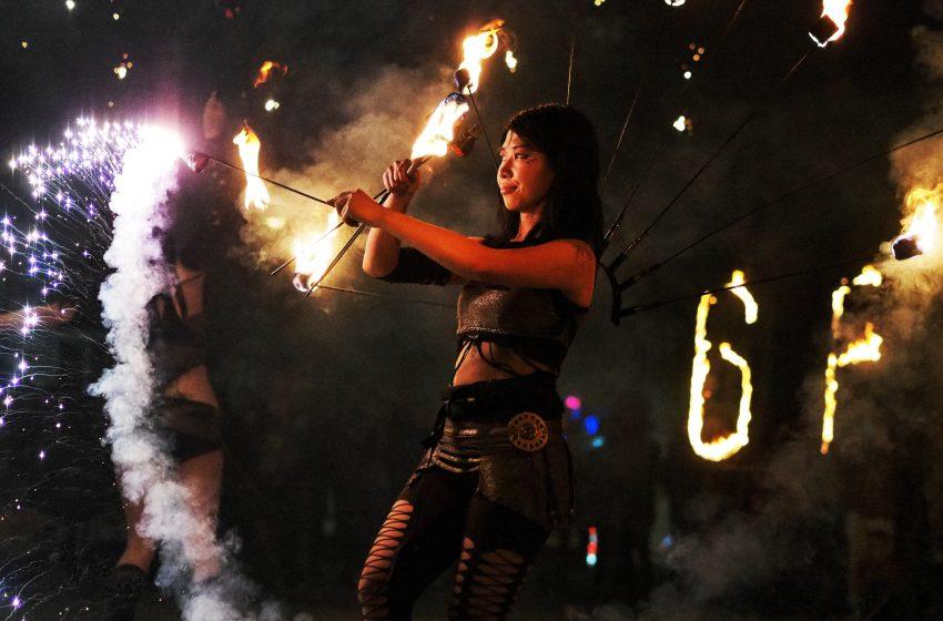 Зрелищно огнено шоу закри 6FEST в Пловдив тази неделя
